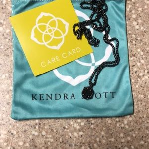Kendra Scott Oliver Necklace in Black drusy